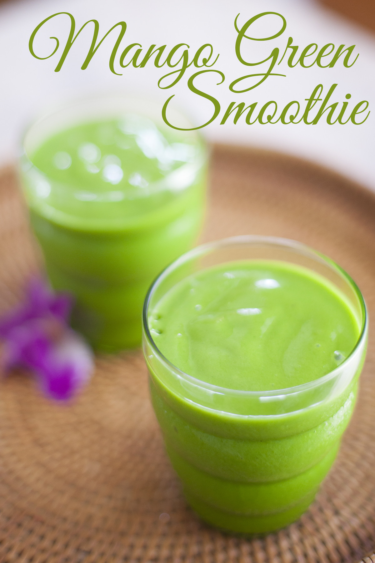 Organic Smoothie Recipes  Green Mango Smoothie Recipe
