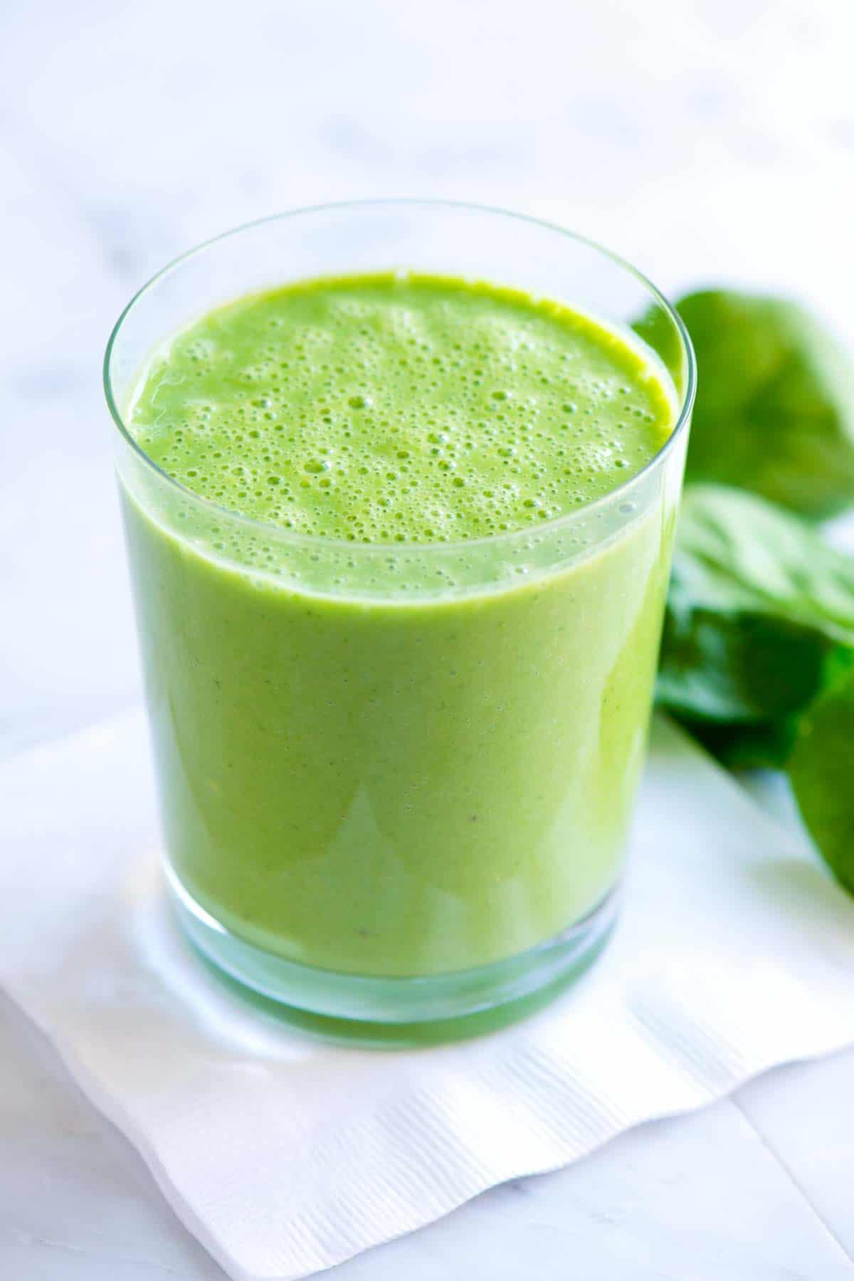 Organic Smoothie Recipes  Easy Green Power Smoothie Recipe