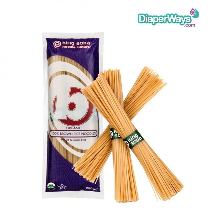 Organic Soba Noodles  KING SOBA ORGANIC BROWN RICE NOODLES 250GR DiaperWays
