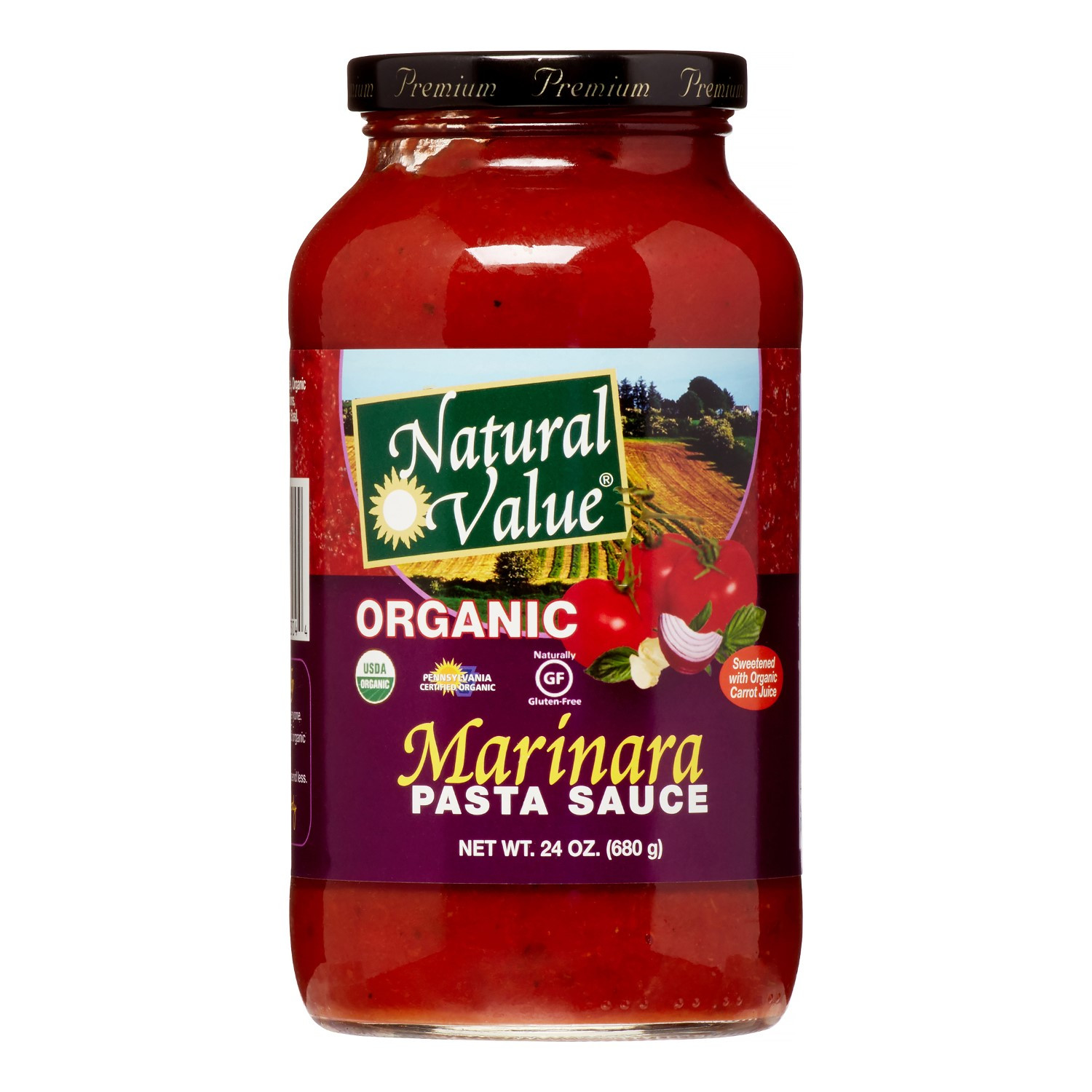 Organic Spaghetti Sauce  Natural Value Organic Pasta Sauce Traditional Marinara