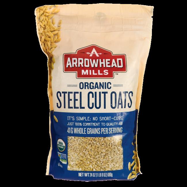 Organic Steel Cut Oats  Arrowhead Mills Organic Steel Cut Oats 24 oz 680 grams