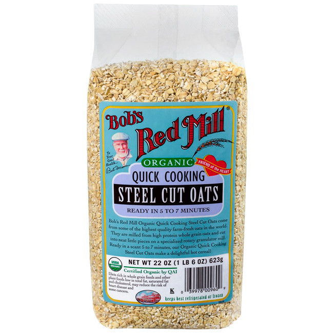 Organic Steel Cut Oats  Bob s Red Mill Organic Quick Cooking Steel Cut Oats 22 oz