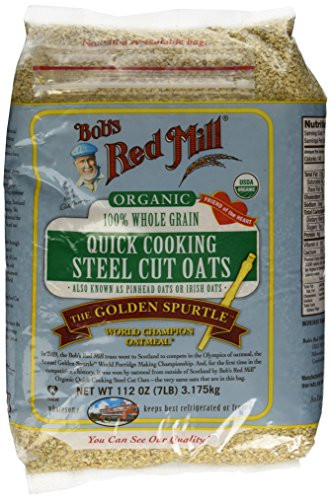 Organic Steel Cut Oats  112oz Organic Steel Cut Oats Bob s Red Mill Quick Cooking