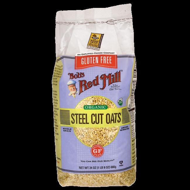 Organic Steel Cut Oats  Bob s Red Mill Organic Steel Cut Oats 24 oz 680 g Pkg