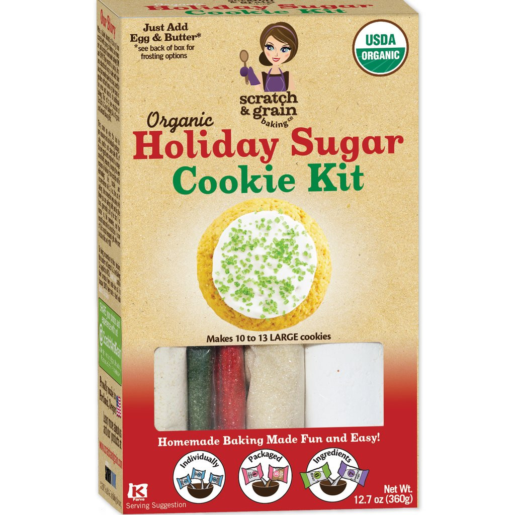 Organic Sugar Cookies  Homemade Baking Holiday Sugar Cookie Kit