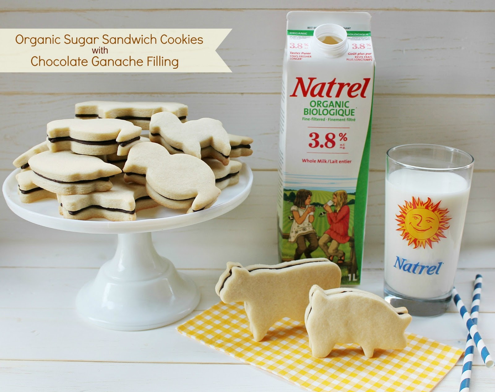 Organic Sugar Cookies  Organic Sugar Sandwich Cookies with Chocolate Ganache