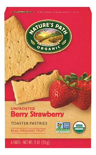 Organic Toaster Pastries  Nature s Path Organic Toaster Pastries Unfrosted Berry