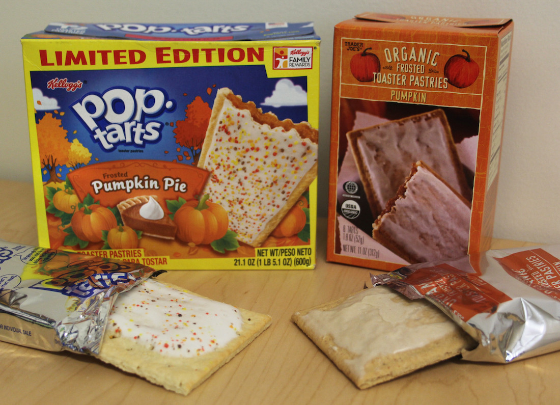 Organic Toaster Pastries  Review Frosted Pumpkin Pie Pop Tarts vs Trader Joe's