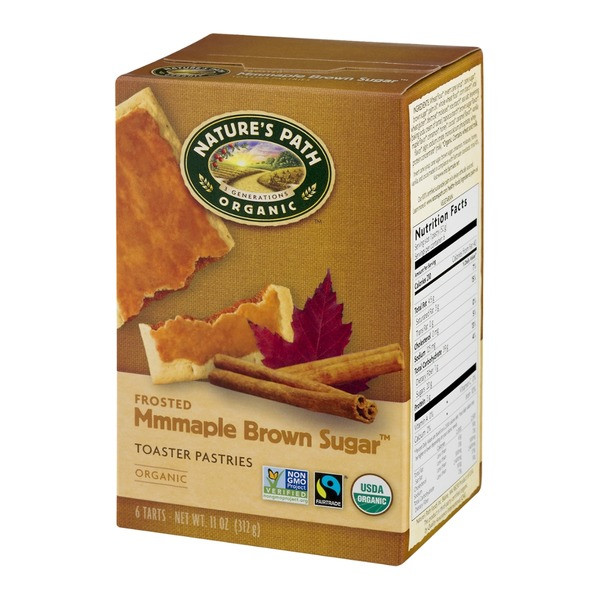 Organic Toaster Pastries  Nature s Path Organic Frosted Toaster Pastries Brown Sugar
