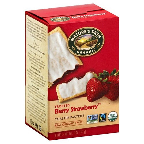 Organic Toaster Pastries  Natures Path Organic Toaster Pastries Frosted Strawberry 6 ct