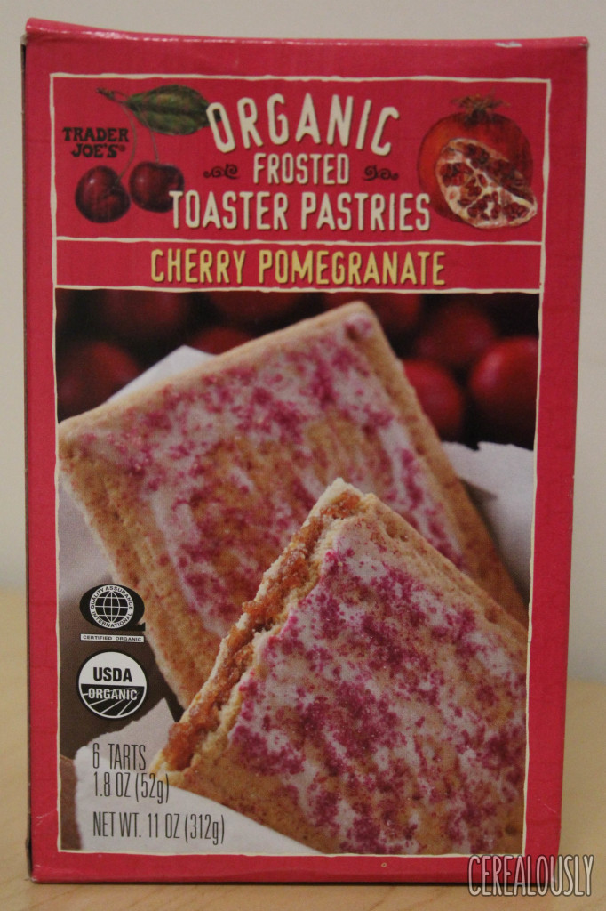 Organic Toaster Pastries  Review Trader Joe's Cherry Pomegranate Organic Frosted
