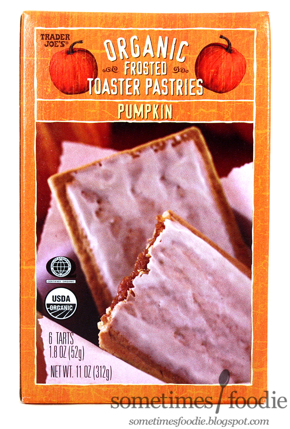 Organic Toaster Pastries  Sometimes Foo Pumpkin Organic Frosted Toaster Pastries