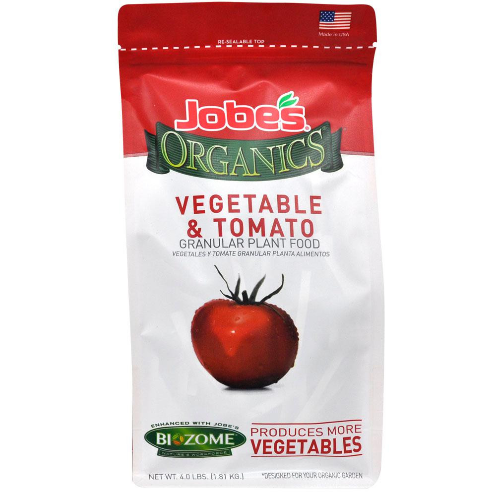 Organic Tomato Fertilizer  Jobe s 4 lb Organic Granular Ve able and Tomato Plant