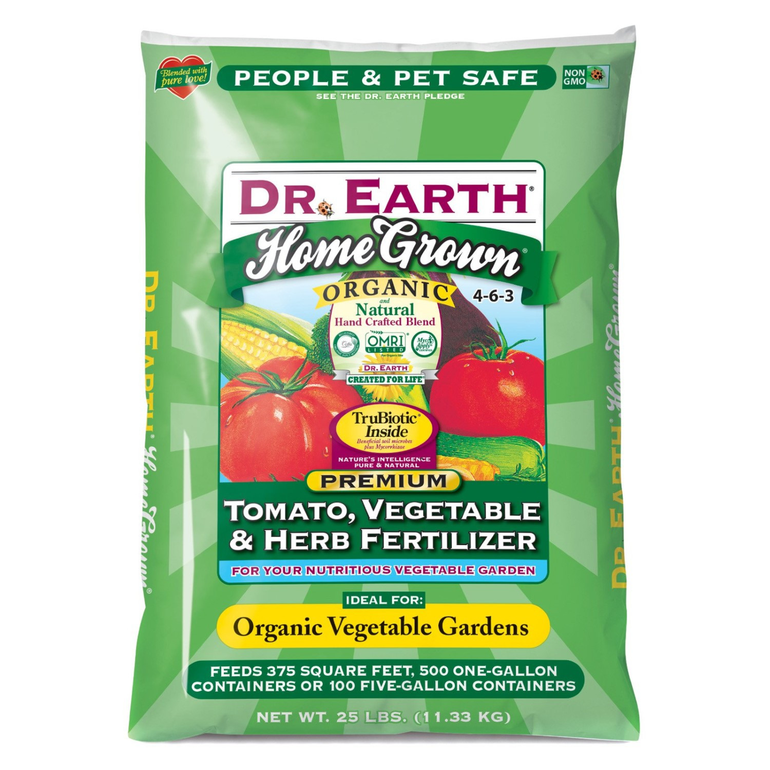 Organic Tomato Fertilizer  Dr Earth Organic 5 Tomato Ve able and Herb Fertilizer