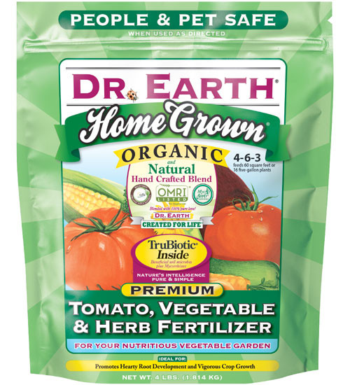 Organic Tomato Fertilizer  Tomato Ve able Herb Fertilizer by Dr Earth