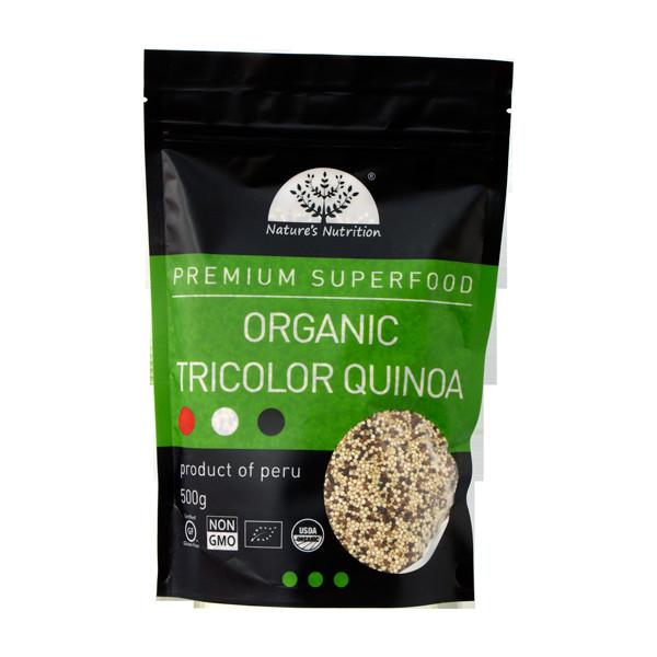Organic Tricolor Quinoa  Nature s Nutrition Organic Tricolor Quinoa 500g