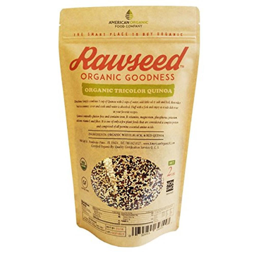 Organic Tricolor Quinoa  Rawseed Organic Tricolor Quinoa 2 LB 2 Pack