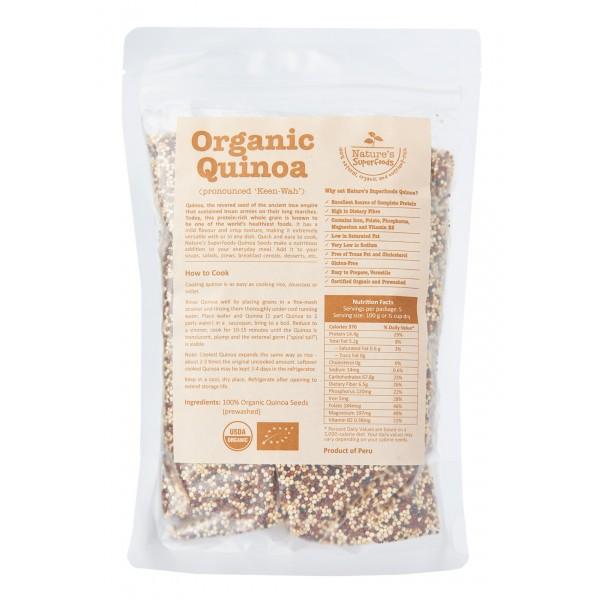 Organic Tricolor Quinoa  Organic TRICOLOR QUINOA Seeds Nature s Superfoods