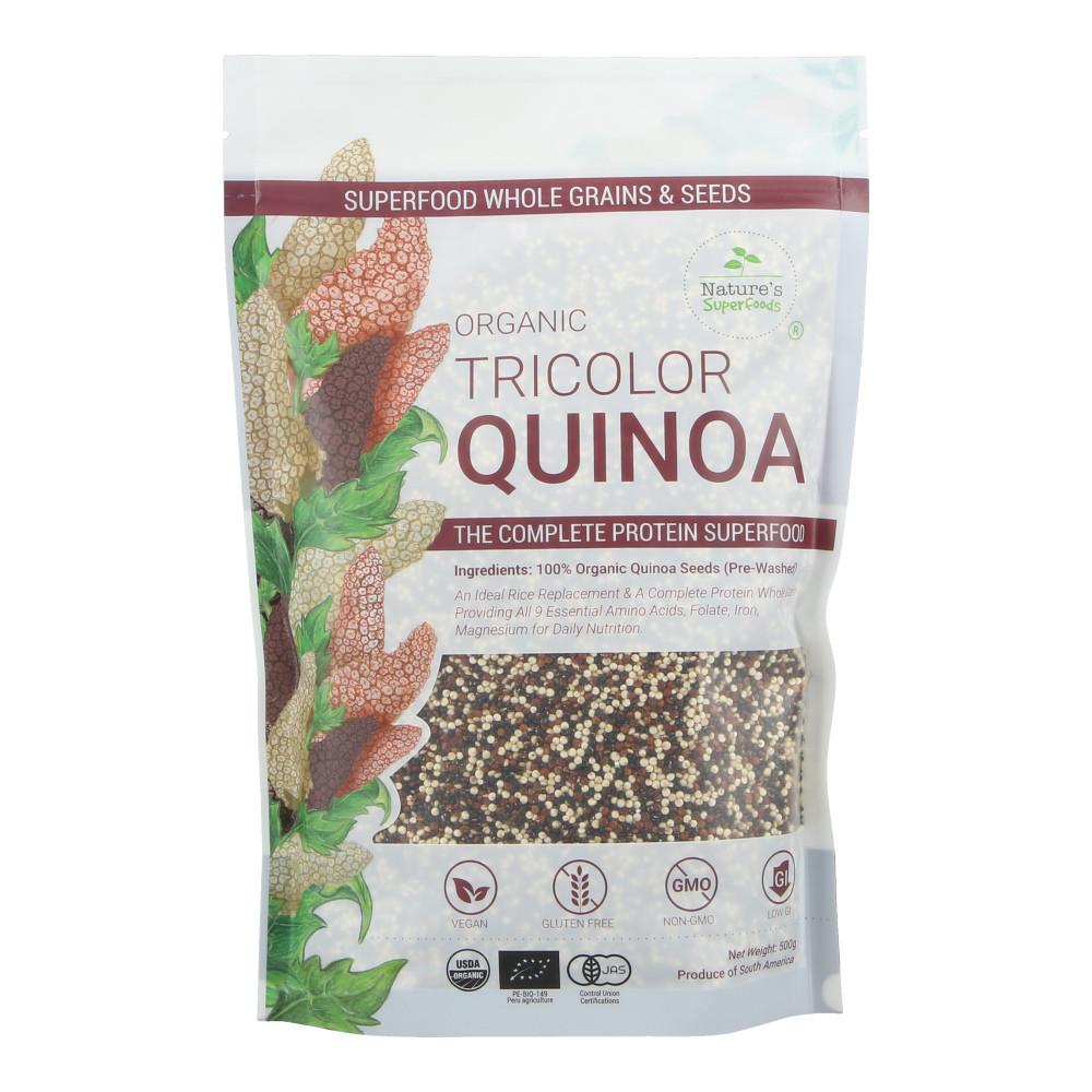 Organic Tricolor Quinoa  Nature s Superfoods Organic Tricolor Quinoa Seeds
