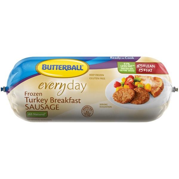 Organic Turkey Sausage  Butterball Everyday All Natural Frozen Breakfast Turkey