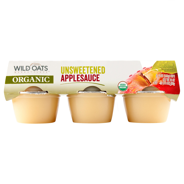 Organic Unsweetened Applesauce  Wild Oats Marketplace Organic Unsweetened Applesauce Cups