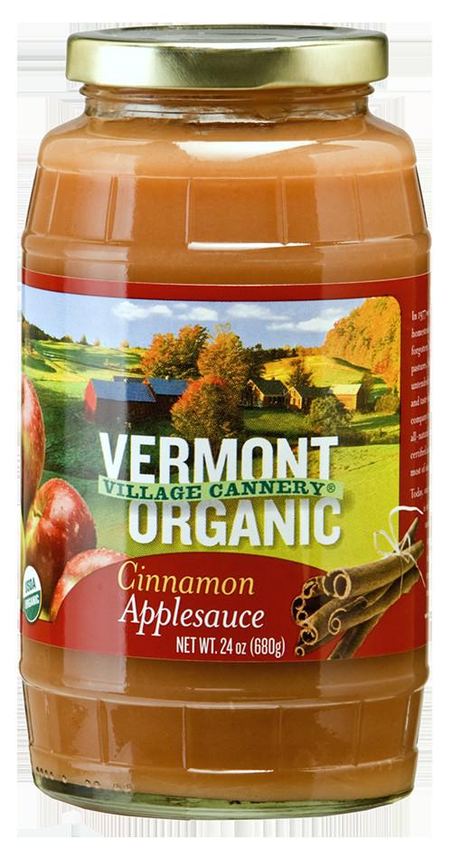 Organic Unsweetened Applesauce  Vermont Village Cannery Organic Cinnamon Applesauce