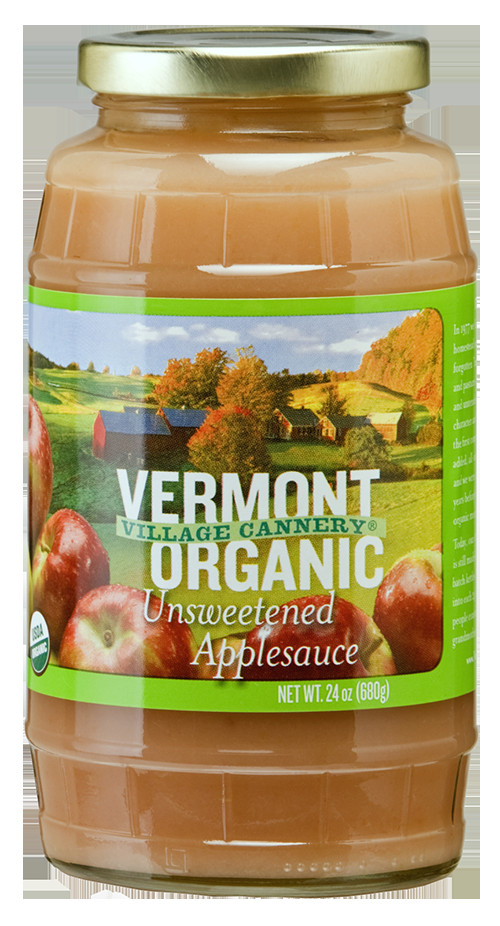 Organic Unsweetened Applesauce  Vermont Village Cannery Organic Unsweetened Applesauce