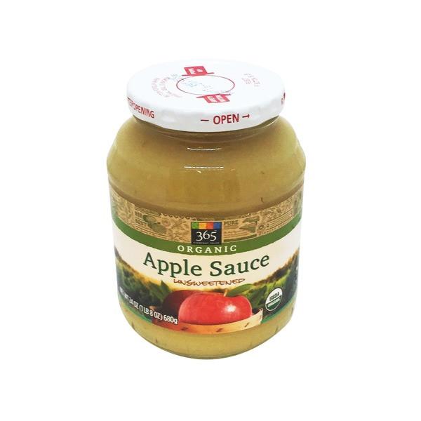 Organic Unsweetened Applesauce  365 Organic Unsweetened Apple Sauce from Whole Foods