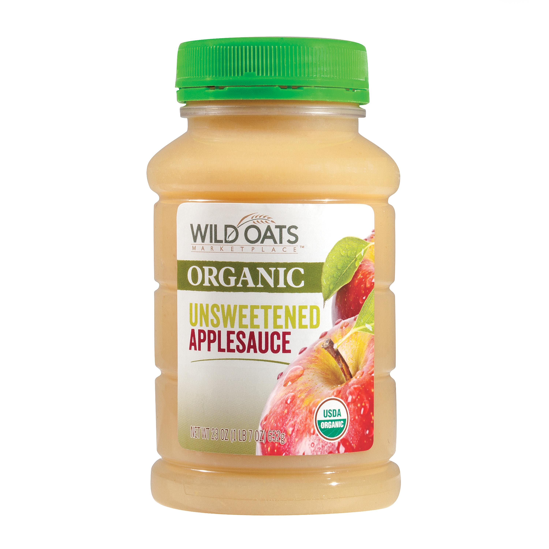 Organic Unsweetened Applesauce  Wild Oats Marketplace Organic Unsweetened Applesauce
