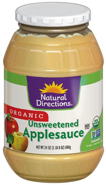 Organic Unsweetened Applesauce  Organic Unsweetened Applesauce Natural Directions