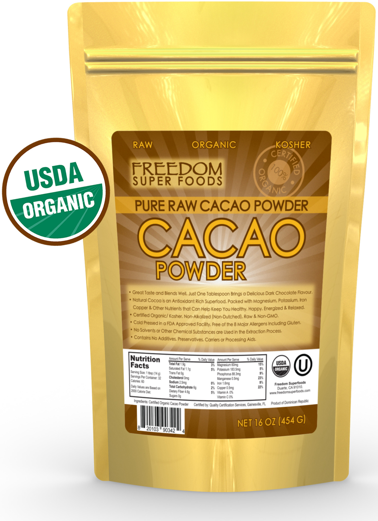 Organic Unsweetened Cocoa Powder  Cassandra M s Place Organic Raw Cacao Powder Review