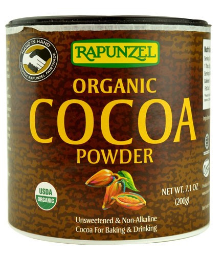 Organic Unsweetened Cocoa Powder  Rapunzel Pure Organic Cocoa Powder 7 1 Ounce Packages