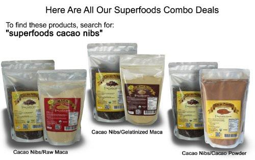 Organic Unsweetened Cocoa Powder  Organic Raw Cacao Nibs Unsweetened Highest Antioxidant