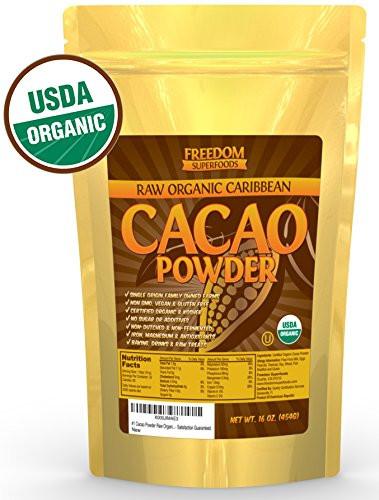 Organic Unsweetened Cocoa Powder  Organic Raw Cacao Powder Best Dark Chocolate Taste