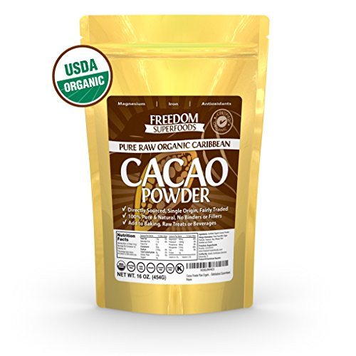 Organic Unsweetened Cocoa Powder  Coffee Tea & Beverages Organic Raw Cacao Powder Best