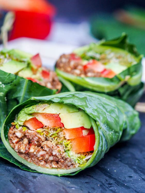 Organic Vegetarian Recipes  Raw Vegan Recipes Collard Wraps Gluten Free Paleo