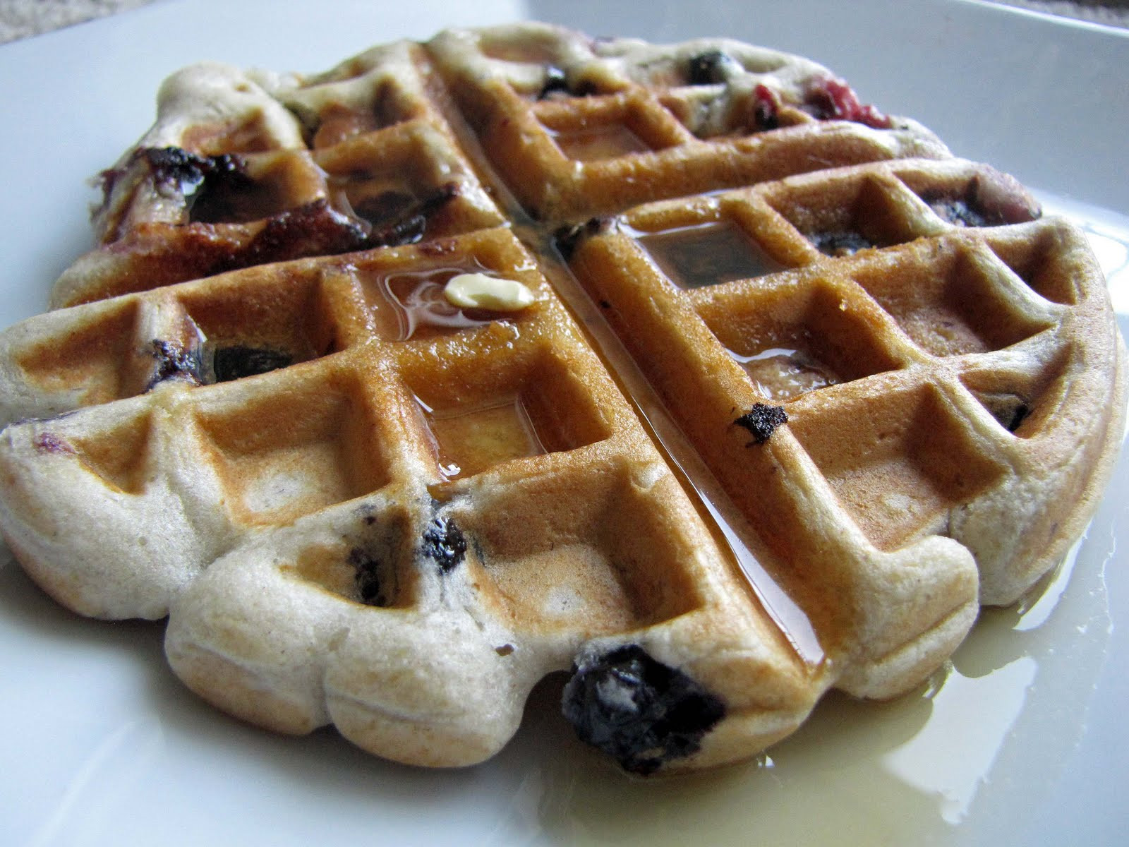 Organic Waffles Blue  Hot Google Blue Waffles