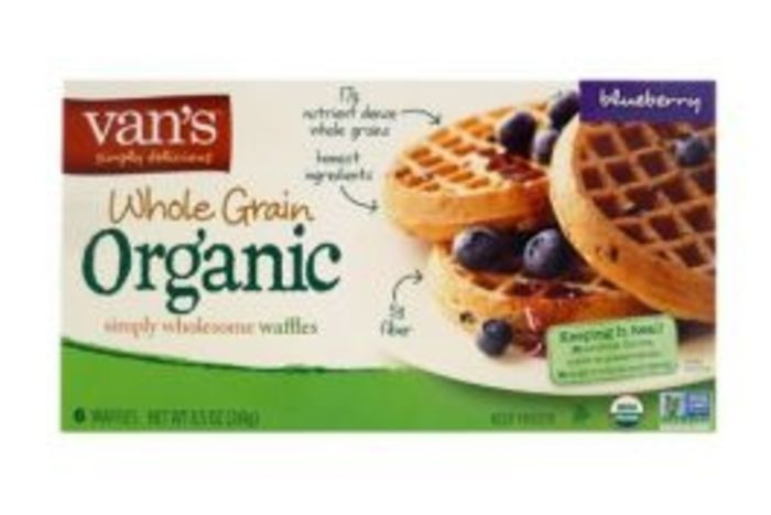 Organic Waffles Blue  Buy Van s Natural Foods Organics Waffles Blue line