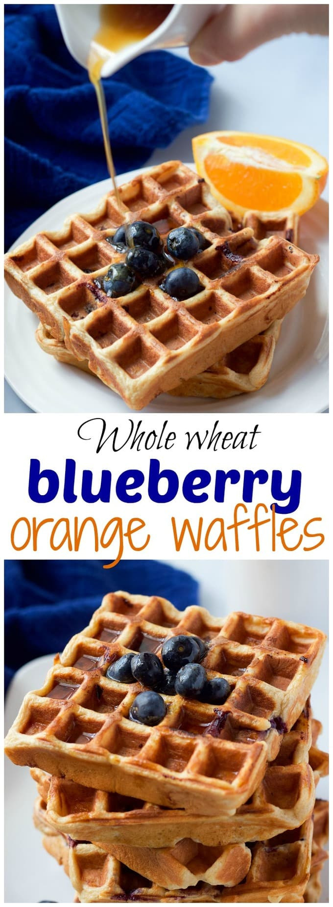 Organic Waffles Blue  Whole wheat blueberry waffles Family Food on the Table
