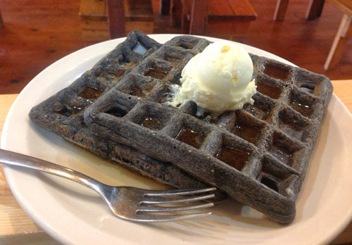 Organic Waffles Blue  Blue Cornmeal Waffles War Eagle Mill