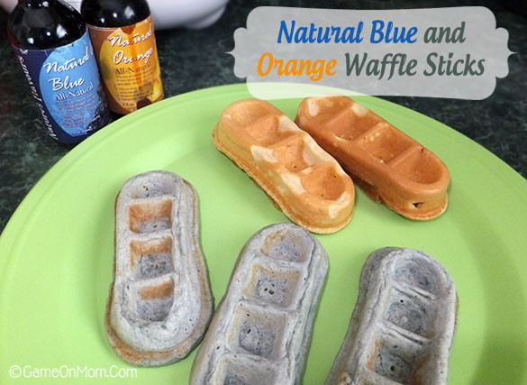 Organic Waffles Blue  Nature s Flavors Natural Colors for Cooking and Baking