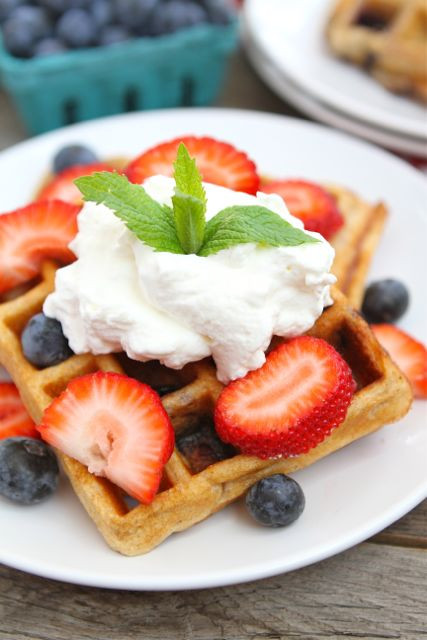 Organic Waffles Blue  Blueberry Yogurt Waffles Blueberry Waffle Recipe