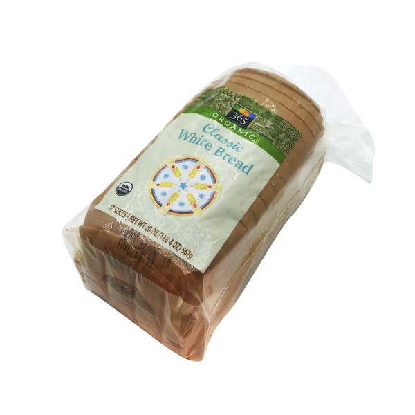 Organic White Bread  365 Organic Classic White Bread 20 oz from Whole Foods