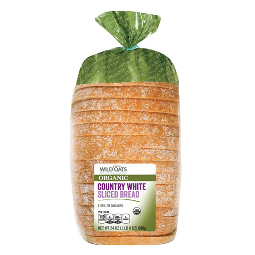 Organic White Bread  Wild Oats Marketplace Organic Country White Sliced Bread