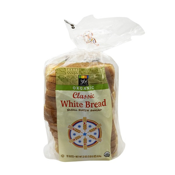 Organic White Bread  365 Organic Classic White Bread from Whole Foods Market