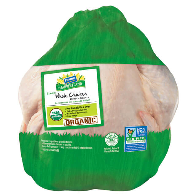 Organic Whole Chicken  PERDUE HARVESTLAND Organic Whole Chicken with Giblets