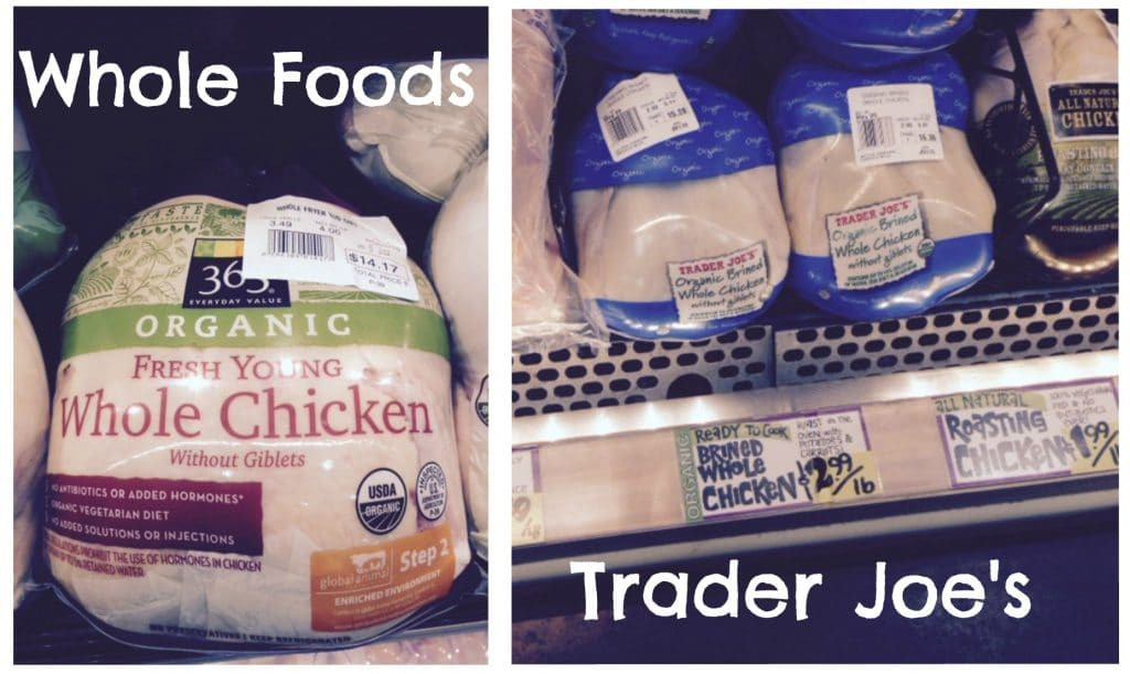 Organic Whole Chicken  Whole Foods Vs Trader Joe's Food Price parison – All