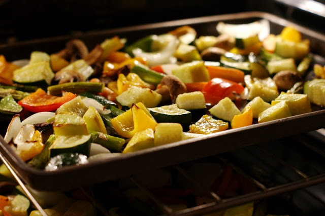 Oven Roasted Summer Vegetables  The Kitchen is My Playground Easy Oven Roasted Summer