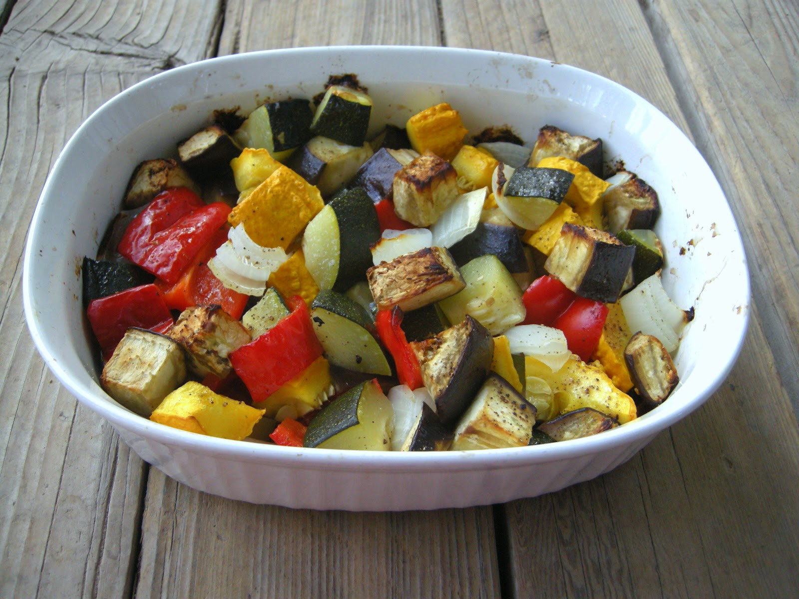 Oven Roasted Summer Vegetables  The Pink Cowgirl Oven Roasted Summer Ve ables