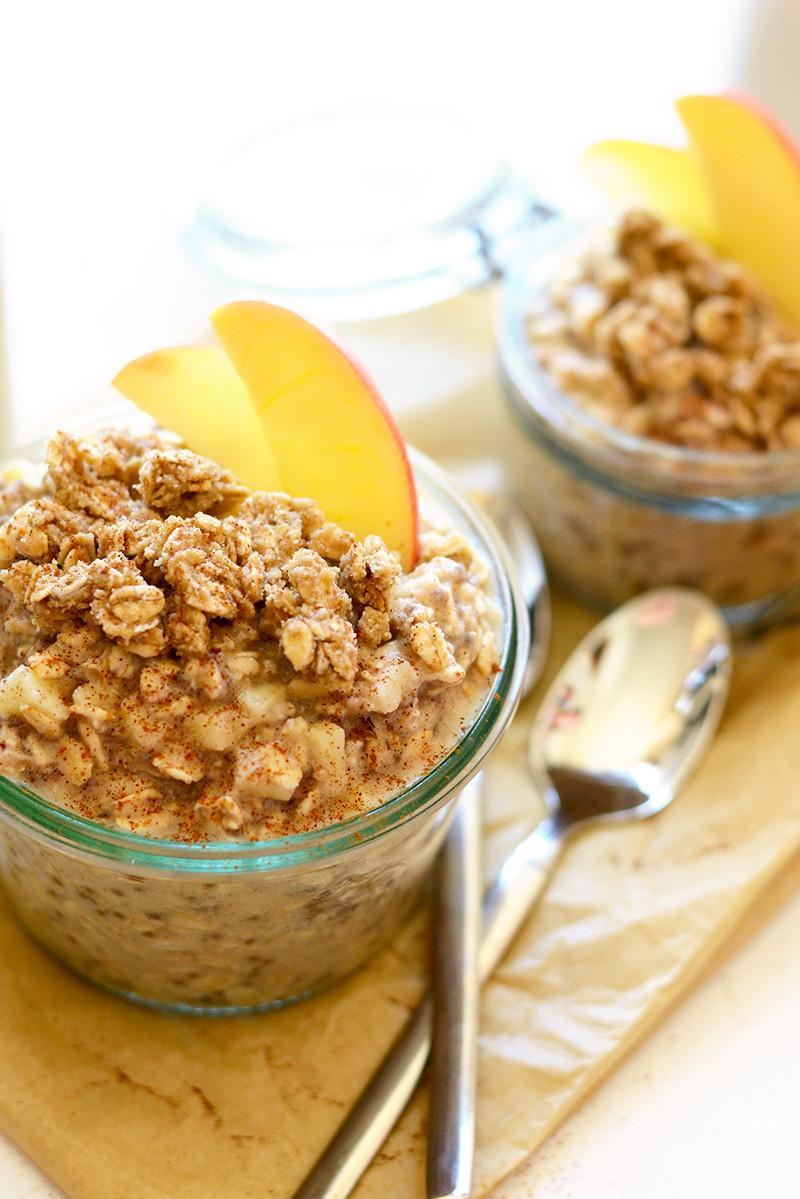 Overnight Oats Healthy  Apple Cobbler Overnight Oats Recipe